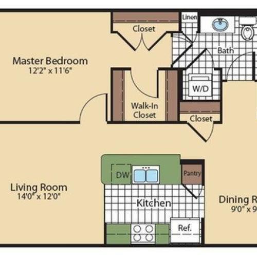 Floor Plan 4 | North Bethesda Luxury Apartments | Meridian at Grosvenor Station