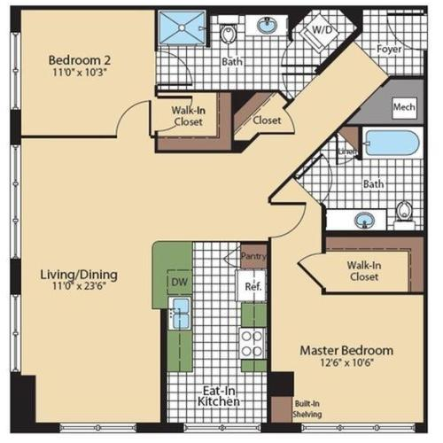 Floor Plan 2 | KW9 | Meridian at Grosvenor Station