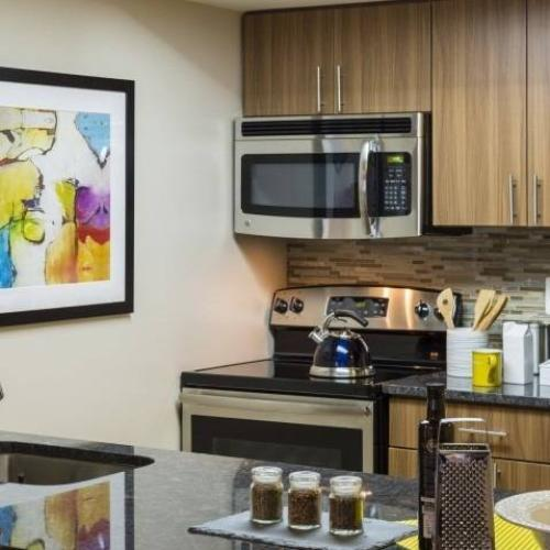 Photo of a Renovated Kitchen at Meridian at Courthouse Commons