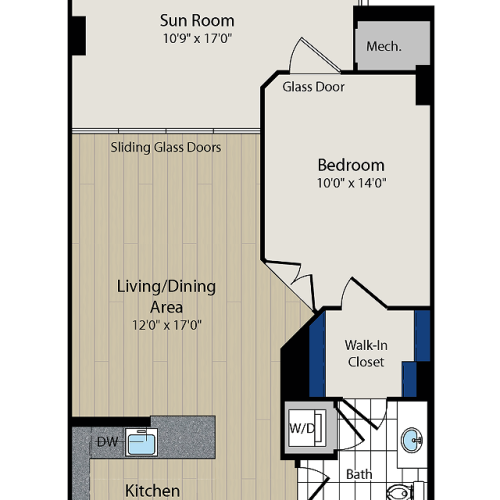 Floor Plan 3 | Meridian at Courthouse Commons2