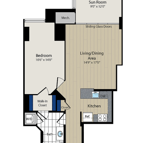 Floor Plan | Meridian at Courthouse Commons 3
