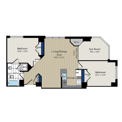 Floor Plan 6 | Meridian at Courthouse Commons 3