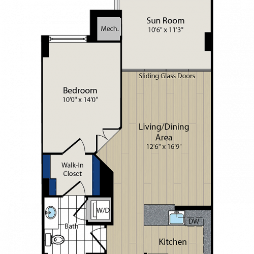 Floor Plan 2 | Meridian at Courthouse Commons 4