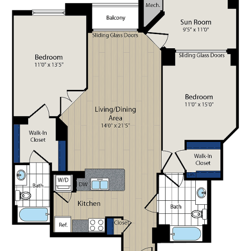 Floor Plan 5 | Meridian at Courthouse Commons 4