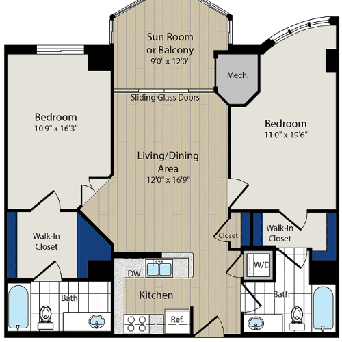 Floor Plan 8 | Luxury Apartments In Arlington VA | Meridian at Ballston Commons