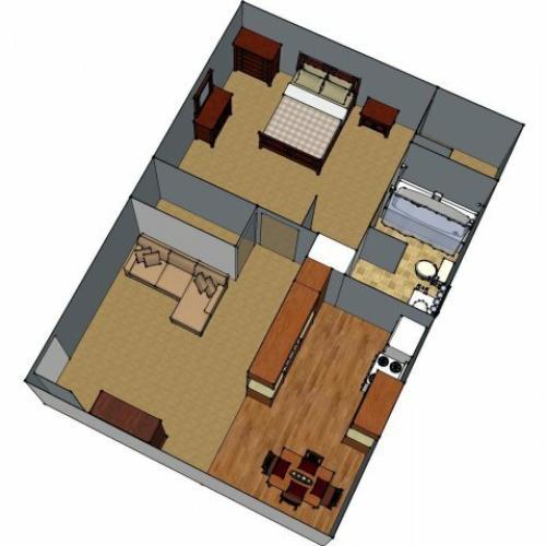 1 Floor Plan 1 | Luxury Apartments Lafayette LA | Maison Bocage Apartments