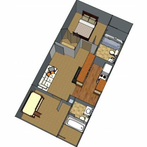 1 Floor Plan 3 | Apartments In Lafayette LA | Maison Bocage Apartments
