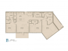 Floor Plan 11 | Luxury Apartments Baton Rouge | Bayonne at Southshore