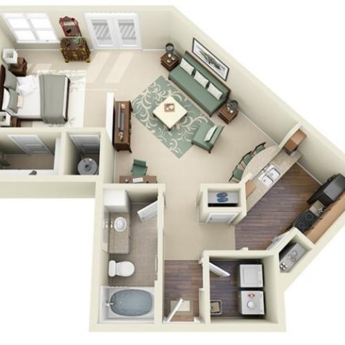 A2 floorplan model | Apartment Homes in Cary, NC | Weston Lakeside