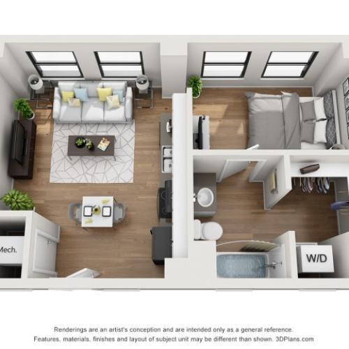 S2 Floor plan | The Stahlman Building | Nashville Apartments
