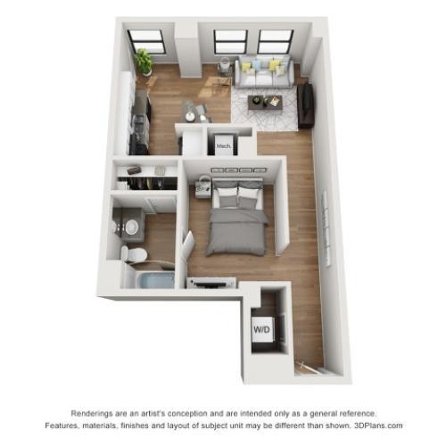A2 Floorplan | The Stahlman Building | Nashville Apartments