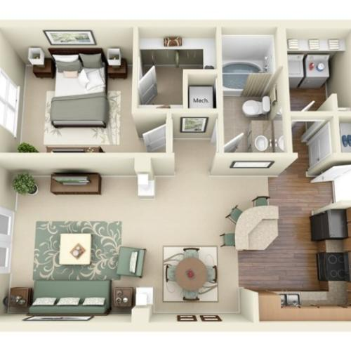 A4 floorplan model   Apartment Homes in Cary, NC   Weston Lakeside