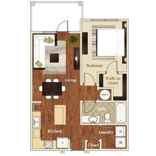 A2 Floorplan  | Apartments in Cary, NC | Lofts at Weston