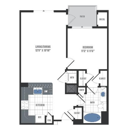 A1 Floorplan  | Apartments in Malvern, PA | Eastside Flats