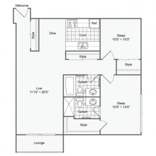 Paragon Apartments: 1 Bed / 1 Bath Apartment In Bloomington MN