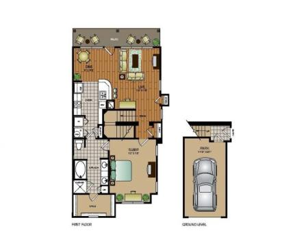 One bedroom one bathroom, kitchen, kitchen pantry, dining room, living room, laundry room , one closet and patio.