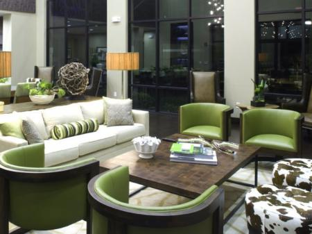 Luxury Living Room Area at Apartments in Downtown Fort Worth Texas