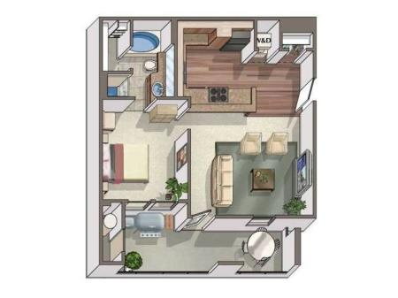 Water Tower Flats one bed one bath 730 sqft