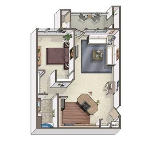 Water Tower Flats one bed one bath 826 sqft