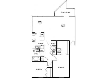 Two Bedroom One Bath Ren