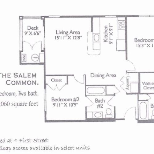 1 Bed / 1 Bath Apartment In Salem MA