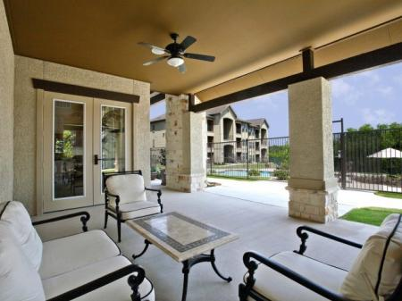Resident Sun Deck | San AntonioTX Apartment For Rent | Carmel Canyon at Alamo Ranch