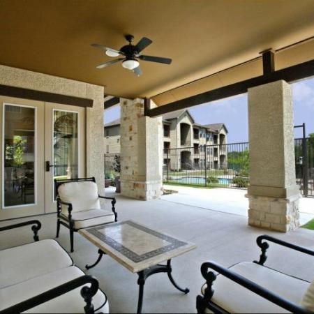 Resident Sun Deck | San AntonioTX Apartment For Rent | Carmel Canyon at Alamo Ranch