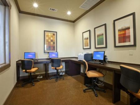 Resident Business Center | San AntonioTX Apartment For Rent | Carmel Canyon at Alamo Ranch