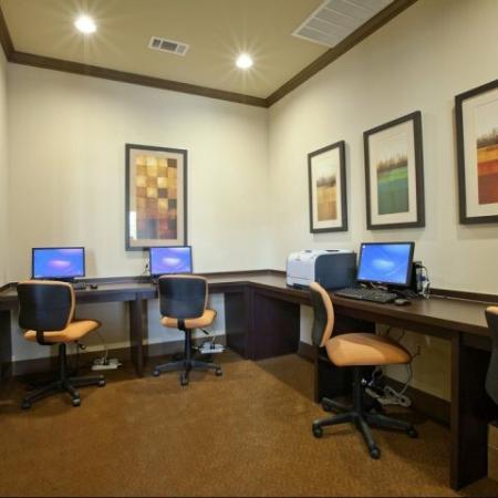 Resident Business Center | San AntonioTX Apartment For Rent | Carmel Canyon at Alamo Ranch