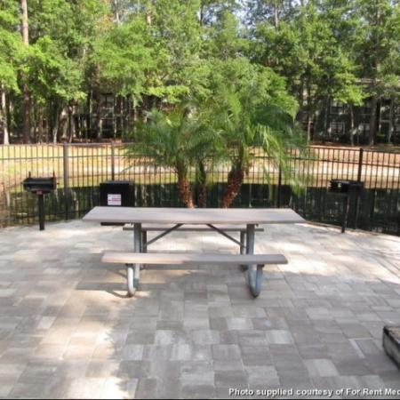 Grill at the pool at our Northlake Apartments for rent in Jacksonville FL