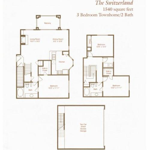 Floorplan 3 | St. Moritz Apartments