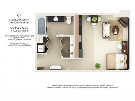 Studio Floor Plan S3