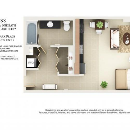 Studio Floor Plan S3