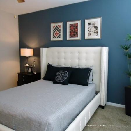 Elegant Master Bedroom | Apartments Dallas, TX | Metropolitan at Cityplace
