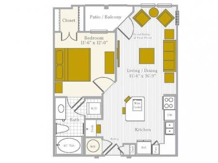 Floor Plan | Flower Mound TX Apartments | Park Central at Flower Mound
