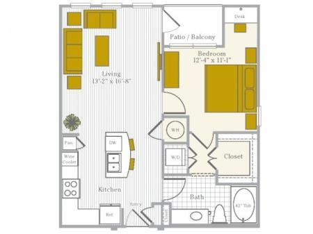 Floor Plan 3 | Flower Mound TX Apartments | Park Central at Flower Mound