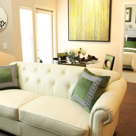 Luxurious Living Area | Park Central at Flower Mound | Flower Mound Apartments
