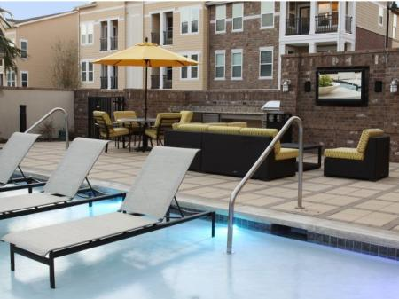 Pool Area | Park Central at Flower Mound | Apartments in Grapevine TX