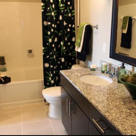 Spacious Bathroom | Park Central Flower Mound | Apartments in Highland Village TX