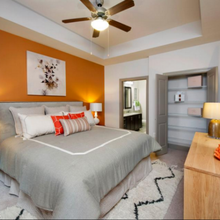 Luxurious Master Bedroom with Ceiling Fan