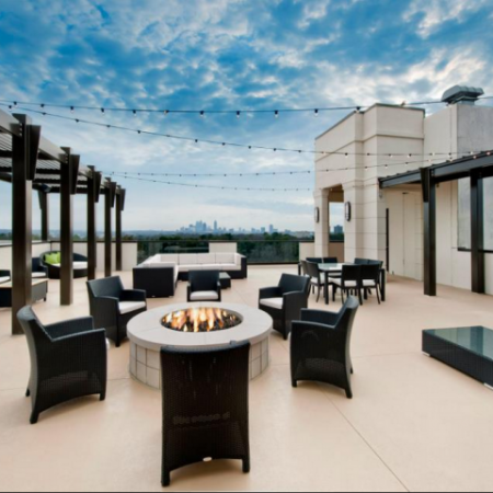 Rooftop Lounge with Firepit