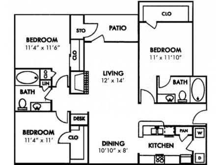 Three Bedroom C1