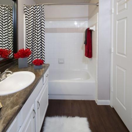 Elegant Master Bathroom | Apartments Dallas, TX | Metropolitan at Cityplace
