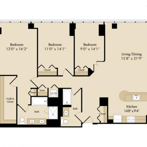 3 bedroom / 2 bath