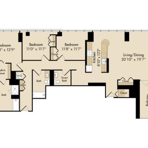 2 Bed / 2 Bath Apartment In Chicago IL