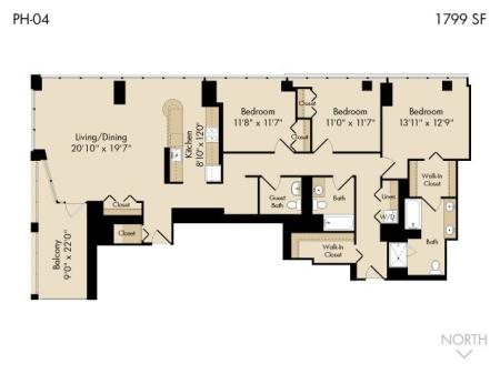 3 bedroom / 3 bath