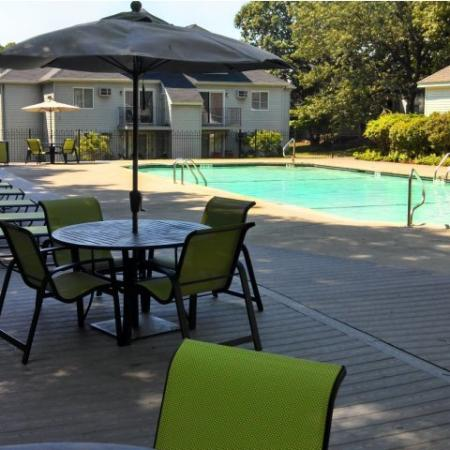 Residents Lounging by the Pool | Lowell MA Apartments For Rent | Cabot Crossing Apartments