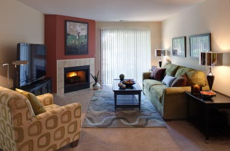 Luxurious Living Room | Apartment Homes in Wheaton, IL | Crossings at Danada