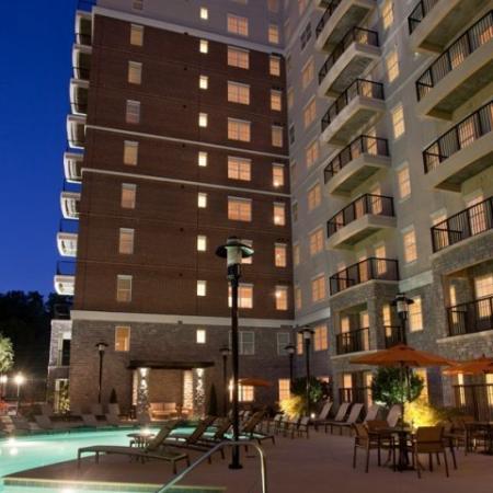 The Rocca Buckead Apartments Pool Night