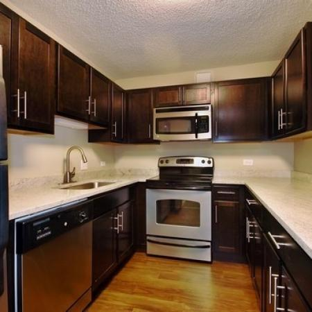 Modern Kitchen | Arlington Heights IL Apartment For Rent | Hancock Square at Arlington Station